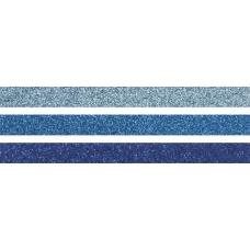 Ruban adhésif scintillant 3pc bleu