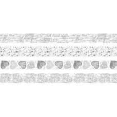 Ruban adhésif déco papier Coeurs x4