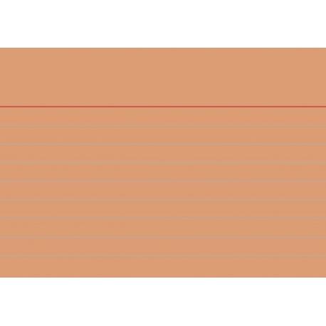 Fiches bristol A7 ligné orange100pc