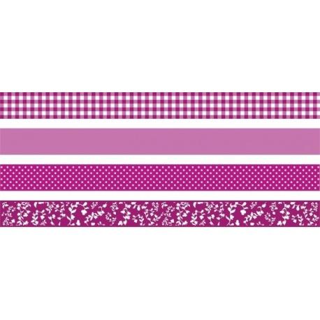 Ruban adhésif déco CC 4pc pink