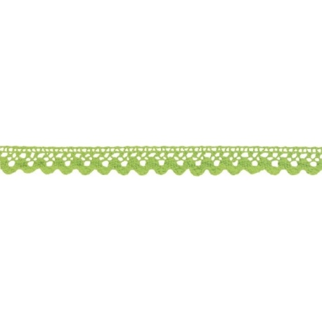 Ruban adhésif dentelle coton vert