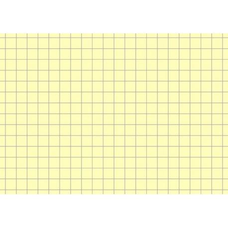 Fiches bristol A7 5x5 jaune 100pc