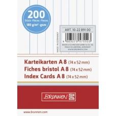 Fiches bristol A8 trav blanch200pc