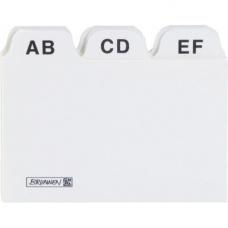 Intercalaires A8 A-Z carton