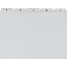 Intercalaires A5 plastique gris