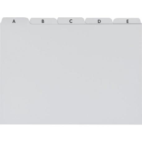 Intercalaires plastique pr A5 gris