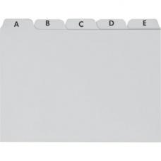 Intercalaires A6 plastique gris