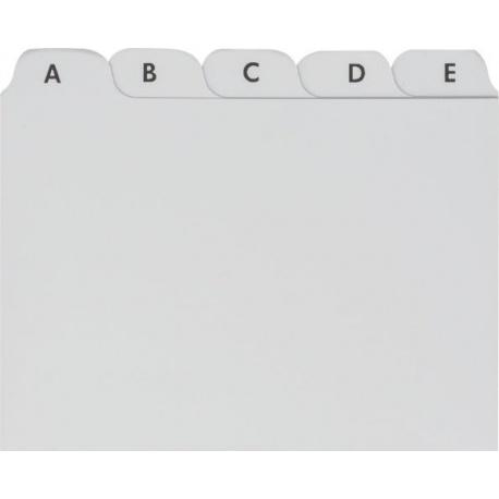 Intercalaires A7 plastique gris