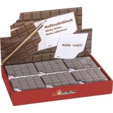 Bloc notes adhésives Chocolat