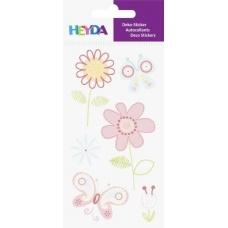 Sticker à thème Fleurs roses