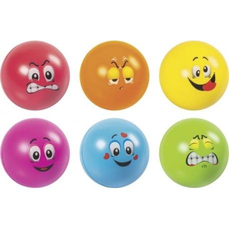 Balle anti-stress 6 motifs/couleurs