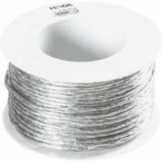 Cordon papier 50m bobine argent