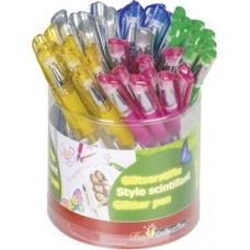 Stylo scintillant 5couleurs assort