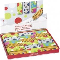 Gomme 6x2,1cm Multicolour 4c assor