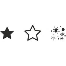 "Set tampons """"Mini Étoile"""", 3pc or"