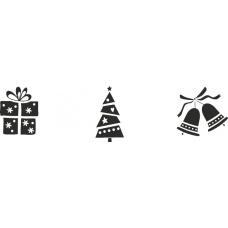 Set tampons Mini Noël, 3pc vert