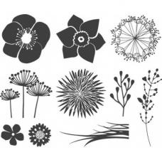 Set de tampons Fleurs 10 pces