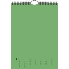Calendrier créatif perp A4 multicol