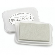 Tampon encreur brillance10x7cm arg