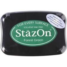 Coussin encreur10x7cm vert forêt