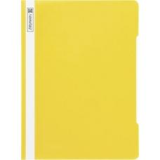 Chemise à lamelles A4 jaune PVC