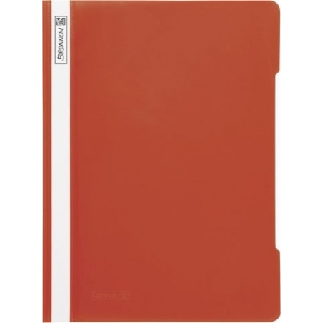 Chemise à lamelles A4 rouge PVC
