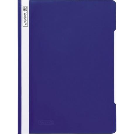 Chemise à lamelles A4 bleue PVC