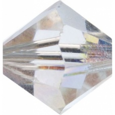 Swarovski Toupies4mm cristalAB 25pc