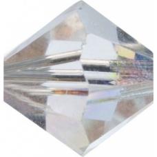 Swarovski Toupies6mm cristalAB 12pc