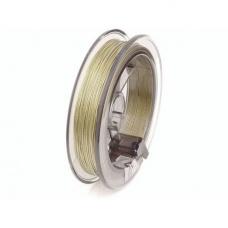 Fil gainé nylon 0,4mm 5m or