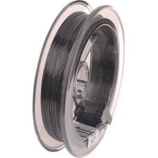 Fil gainé nylon 0,4mm 5m noir