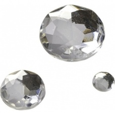 Pierre Glamour rond cristal 100pc
