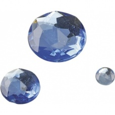 Pierre Glamour rond bleu clair 100p