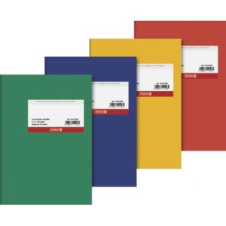Cahier dos toilé A5 carton 5x5 120p