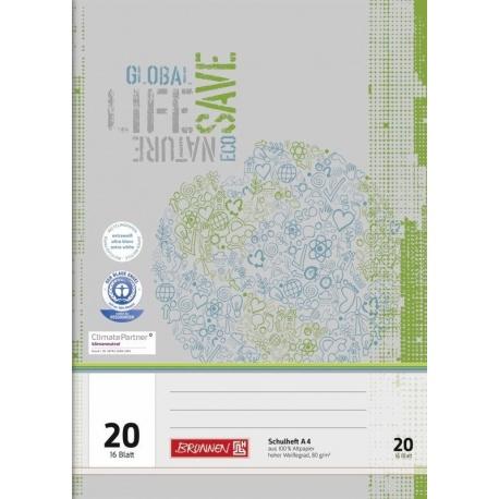 Cahier scolaire A4 recyclé n°20 32p