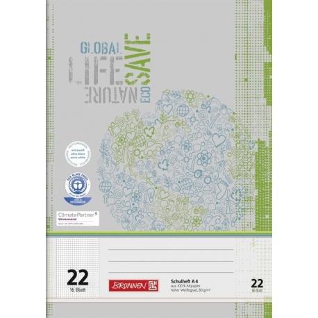 Cahier scolaire A4 recyclé n°22 32p