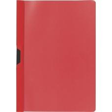 Chemise à clip A4 PP rouge