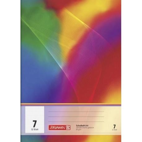 cahier A4 réglure 7 64p label