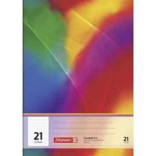 cahier A4 réglure 21 64p label