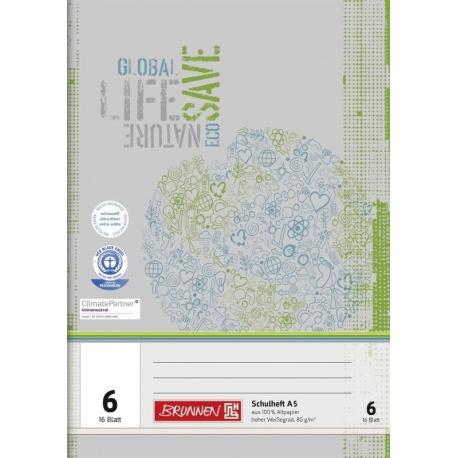 Cahier scolaire A5 recyclé n°6 32p