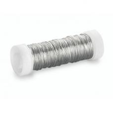 Fil métal laqué 0,3mm 50m argent