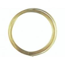 Fil mét. plaqué or vérit 0,6mm 10m