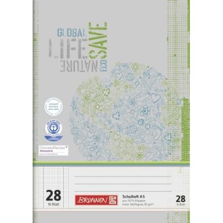Cahier scolaire A5 recyclé n°28 32p