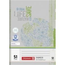 Cahier scolaire A6 recyclé lign.64p